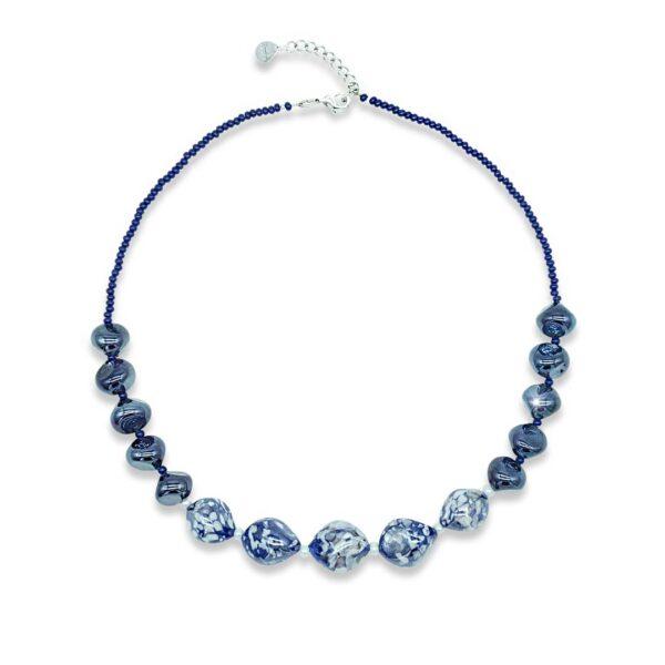 collana in vetro chic blu