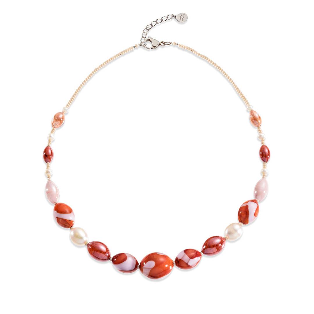 collana vetro murano perle