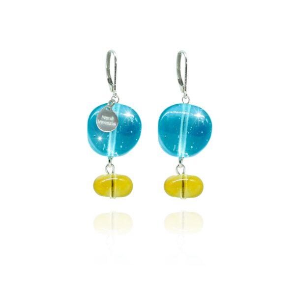 orecchini rajah azzurri